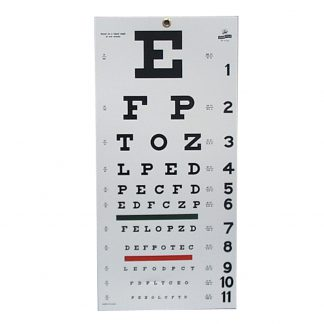 Snellen Eye Chart - 20' Distance