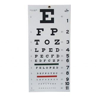 Snellen Eye Chart - 20' Distance