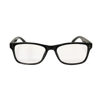 Vintage Black Reader with Blue Blocker & Anti-Reflective Coated Lenses
