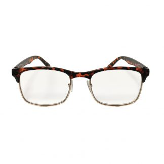 Hipster Tortoise Reader with Blue Blocker & Anti-Reflective Coated Lenses