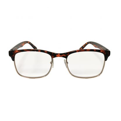 Hipster Tortoise Reader with Blue Blocker & Anti-Reflective Coated Lenses